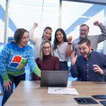 Teamwork op kantoor